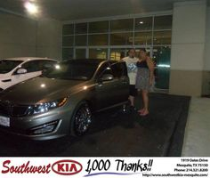 #HappyAnniversary to Adam Loew on your 2013 #Kia #Optima from Ademola Bamigbola at Southwest Kia Mesquite!
