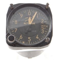There is something very cool about this old altimeter from an airplane. More at http://stores.ebay.com/Gully-Farm-Consignment?_rdc=1
