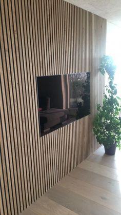 MAKE IT WORTH THEIR WHILE See how others have used Lignosi's unique wood products in their interior design. Wood Slat Wall, Wood Slats, Wall Design, House Design, Acoustic Design, Acoustic Panels, Wall Cladding, Modern Kitchen Design, Family Room