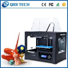 2017 Newest High Quality Dual extruder 3D Printer with upgraded 7.8 version motherboard W/2 free ABS PLA filaments