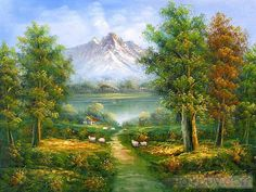 Landscape Oil Paintings   ... > Landscape Paintings >Classic Mountain Landscape oil painting