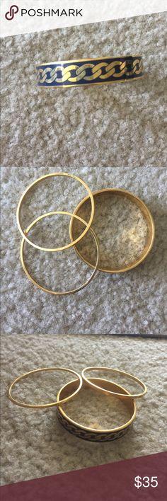 3319527d0 Juicy Couture bangled bracelets Juicy Couture bangled bracelets. Two  bracelets are thin gold bracelets.