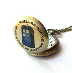 Doctor Who Pocket Watch WORKING Chameleon Arch by TimeMachineJewelry