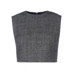 SALE IS ON! Extra 15% off select full-priced and sale items on ShopBAZAAR. Ends TOMORROW! - Barbara Casasola Gray Crop Top
