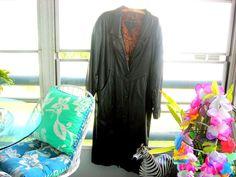 JF Jacqueline Ferrar Women's Long Soft Black Gunuine Leather Trench Coat Medium/ #JacquelineFerrar #Trench #Business