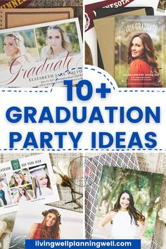 Looking for graduation party ideas for invites and inspiration? Copy these trendy graduation party ideas for food, graduation party invitations, and ideas for decor. Graduation Party Desserts, Outdoor Graduation Parties, Graduation Party Planning, College Graduation Parties, Graduation Party Invitations, College Tips, College Fun, Theme Ideas, Party Ideas