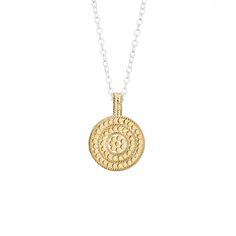 """Anna Beck: Necklaces: """"Circle of Life"""" Reversible Divided Disk Necklace"""