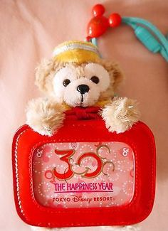 Tokyo Disney 30th Anniversary Duffy bear plush toys pass holder Japan limited: Pass Holder, 30Th Anniversary, Disney 30Th, Holder Japan, Japan Limited, Plush Toys, Anniversary Duffy