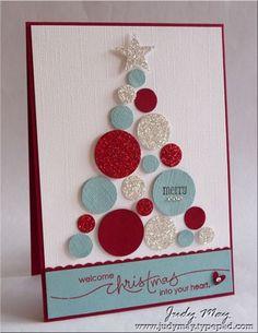 Circles Christmas Tree Card