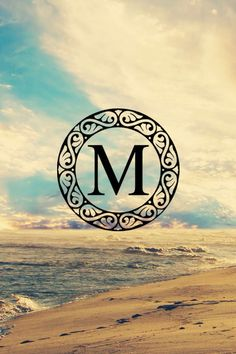 Monogrammed M iphone background and wallpaper