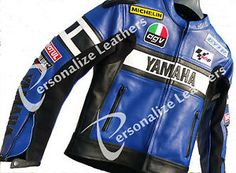 Yamaha Moto Chaqueta De Cuero Azul R1 R6 Valentino Rossi 46 Hombres O Mujeres
