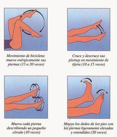 #Ejercicios sencillos para mejorar la circulación de las piernas cansadas, hinchadaz o con várices