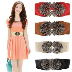 >> Click to Buy << Vintage Leather Belt Women Retro palace carved wide belt Fashion Accessories Alloy Flower Straps #EE #Affiliate