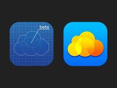 Cloud iPhone App Icon / Mail.Ru  Designer: Pavel Skripkin (http://dribbble.com/skripkin),  Slava Yashkov (http://dribbble.com/SlavaYashkov).