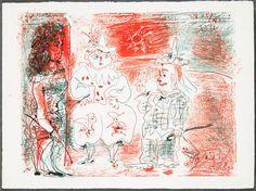 L'écuyère et les clowns, 1961 Pablo Picasso  http://zaidan.ca/Art_Gallery/Picasso/Pablo-Picasso.htm
