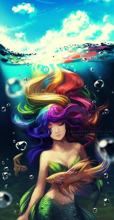 Dreaming of Colors by Yuuza.deviantart.com on @DeviantArt - Such lovely colours. I love the detail work on the scales.