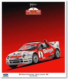 Robert Droogmans, Ford RS200, Ypres Rally 1986.