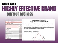 tools to build a highly effective brand for your business