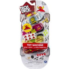 Tech Deck 96mm Fingerboards Toy Machine, Pack of 4, Multicolor