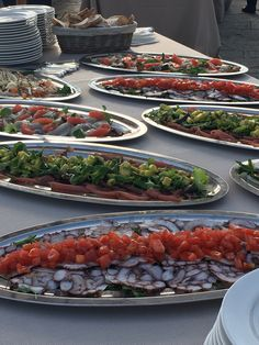 Carpaccio Station in the Buffet Dinner Catering in Florence