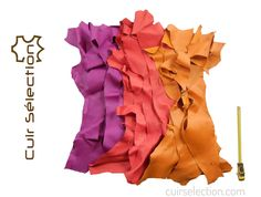 LEATHER SELECTION offers this set of multicolored leather scraps Quality: grained soft leather used by a french luxury goods. Nature of leather: goat Size: ruler measures 30 cm pictured Thickness: mm Leather Scraps, Soft Leather, Diy, Articles, Boutique, Bricolage, Boutiques, Handyman Projects, Do It Yourself