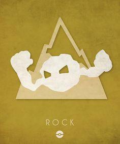 Pokémon Types Poster Series: Rock- Timmy Burrows