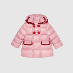 Baby nylon jacket with rose buttons