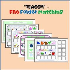 FREE File Folder selection. 6 File Folder Interactive Matching tasks for students with Special Needs & Autism.