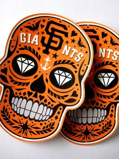 San Francisco Giants 'Calavera' Die-Cut Waterproof by C2Kdesign