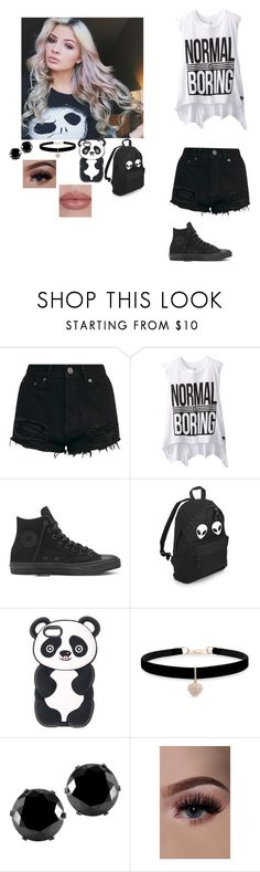 """""""Riverdale"""" by ikonic-monbebe ❤ liked on Polyvore featuring Dirtee Hollywood, Betsey Johnson and West Coast Jewelry"""