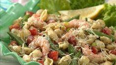 Pesto Shrimp and Shells Salad