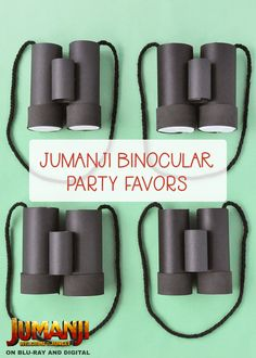 Take a look inside these binoculars to discover toys and treats galore! Get crafting to create easy party favor bags by Handmade Charlotte for a fun movie party at home. Dad Crafts, Fathers Day Crafts, Diy Crafts For Kids, Jungle Party, Safari Party, Binocular Craft, Jungle Crafts, Binoculars For Kids, Party Favor Bags