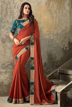 0345b2e8c Maroon Silk Designer Embroidered Saree