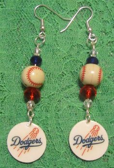 Los Angeles Dodgers Inspired Dangle Earrings New by musicissanity, $5.99