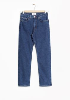 amp  Other Stories image 2 of Straight Denim Jeans in Dark Blue   Other  Stories 783b149af898