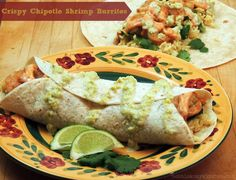 "Crispy Chipotle Shrimp Burritos for ""Stuff, Roll, and Wrap""#WeekdaySupper"