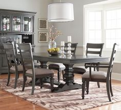 Shop For The Standard Furniture Garrison Dining Room Trestle Table Set At Household