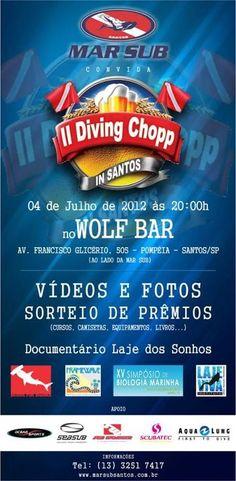 Vem aí a segunda confraternização em Santos (SP) reunindo mergulhadores, biólogos, universitários, ambientalistas, voluntários e todos mais que se preocupam em preservar o planeta e gostam de uma boa festa!    O Projeto Divers for Sharks estará lá! Espero por vocês!!!!