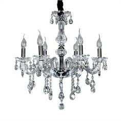 Ceiling Lights - Chandeliers - Crystal Chandeliers - Elegant Crytal Chandelier with 6 Lights
