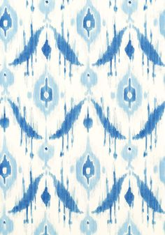 Island Ikat Wallpaper Large Ikat design in a mixture of blues on an off white background. Powder Room Wallpaper, Bathroom Wallpaper, Home Wallpaper, Fabric Wallpaper, Bathroom Grey, Ikea Bathroom, Bathrooms, Office Wallpaper, Condo Bathroom