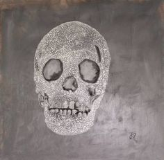 skull Painting by Nicole Theresia Spitzwieser Skull Painting, Woman Painting, Oil Painting On Canvas, Canvas Art, Original Art, Original Paintings, Oil Pastel Paintings, Skull Art, Buy Art