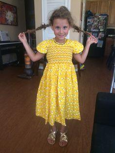 Vestido de algodón americano Alumna junio 2015