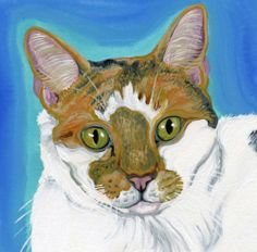 Pet Dog Cat Bird Portrait Custom Portrait Painting Canvas 12 x 16 -Carla Smale-