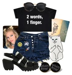 """Grunge #2"" by riley-motes on Polyvore featuring Opening Ceremony, Hipstapatch and Big Bud Press"