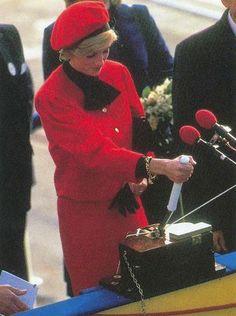 Princess Diana, who christened the lines original Royal Princess in 1984.