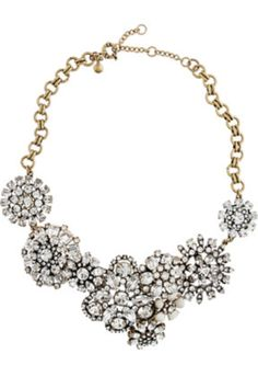Jcrew crystal lattice necklace