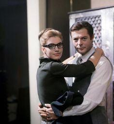 Marcello Mastroianni and Catherine Spaak in Oggi domani dopodomani (Today tomorrow the day after tomorrow) directed by Eduardo De Filippo and Marco Ferreri Marcello Mastroianni, Catherine Deneuve, Sophia Loren, Dorothy Parker, Diana Vreeland, Actor Model, Monte Carlo, Cannes, Movie Stars
