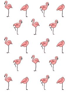 Flamingo Art Print - great for alice in wonderland themed party