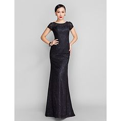 Trumpet/Mermaid+Scoop+Sweep/Brush+Train+Lace+Evening+Dress+(944182)+–+AUD+$+104.47