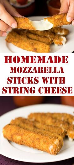 Appetizers easy cheese finger foods new Ideas Homemade Cheese Sticks, Fried Cheese Sticks, Cheese Sticks Recipe, Cheese Recipes, Cooking Recipes, String Cheese Sticks, Keto Recipes, Delicious Recipes, Easy Recipes